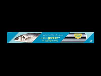 g'woon aluminiumfolie extra sterk 20m