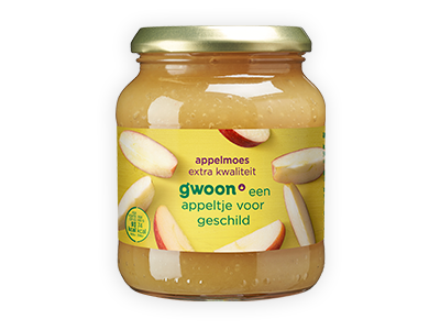 g'woon appelmoes extra kwaliteit 360g
