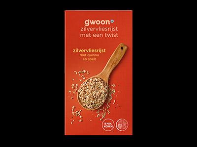g'woon zilvervliesrijst quinoa spelt 275g
