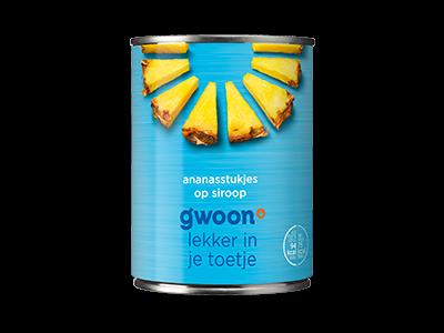 g'woon ananasstukjes op siroop 567g