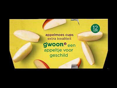 g'woon appelmoes extra kwaliteit kuipjes 12 stuks