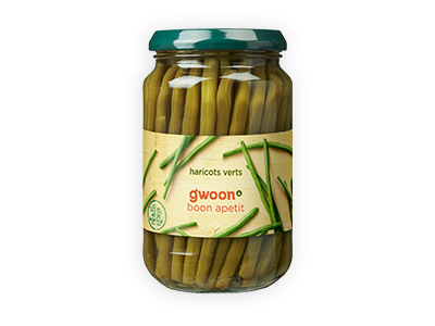 g'woon haricots verts 340g