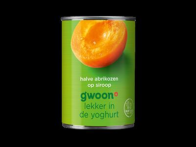 g'woon halve abrikozen op siroop 410g