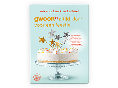 g'woon kwarktaart naturel mix 395g