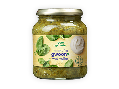 g'woon roomspinazie 330g