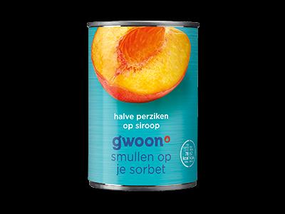 g'woon halve perziken 410g