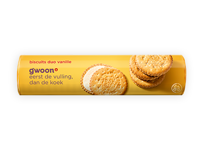 g'woon biscuit duovanille 500g