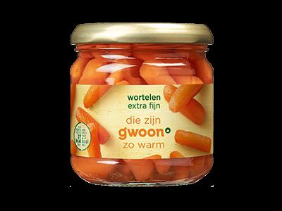 g'woon wortelen extra fijn 180g