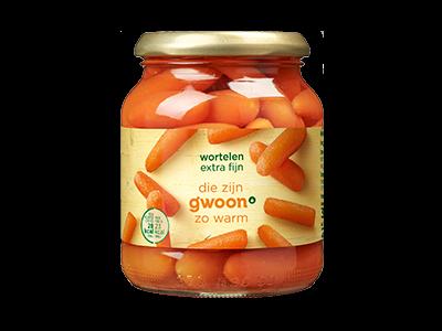 g'woon wortelen extra fijn 340g