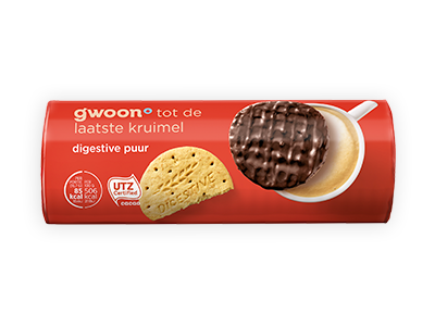 g'woon digestive pure chocolade 300g