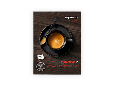 g'woon espresso 25 sticks