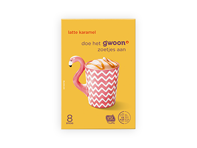 g'woon latte karamel 136 g