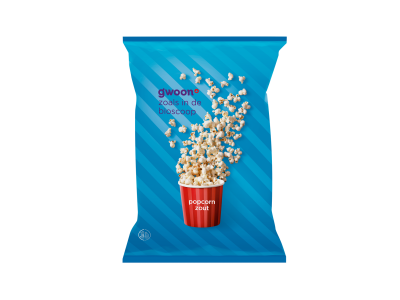 g'woon popcorn zout 100 gram