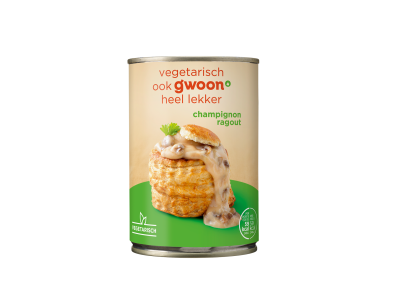 g'woon champignon ragout 400 gram