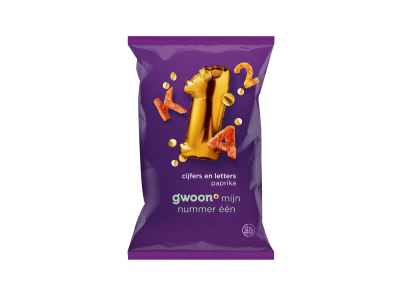 g'woon cijfers en letters paprika 75 gram