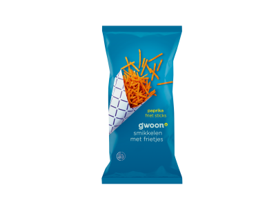 g'woon paprika friet sticks 150 gram