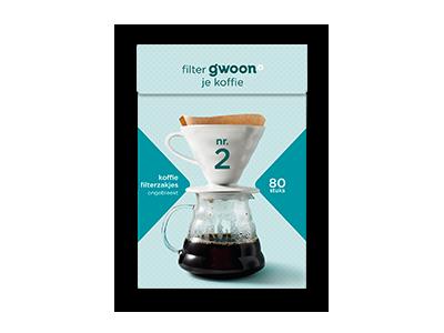 g'woon koffie filterzakjes nr.2 80 stuks