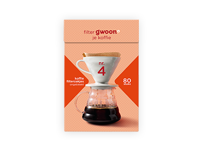 g'woon koffie filterzakjes nr.4 80 stuks