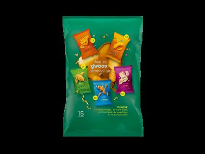 g'woon mixpak vormpjes chips 15 stuks