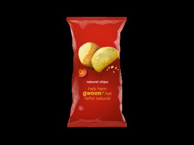 g'woon naturel chips 225 gram