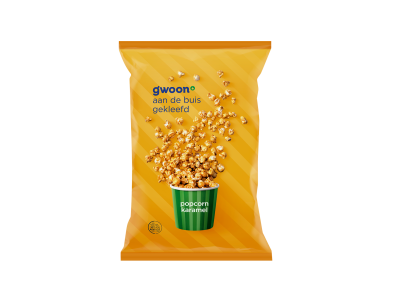 g'woon popcorn karamel 150 gram