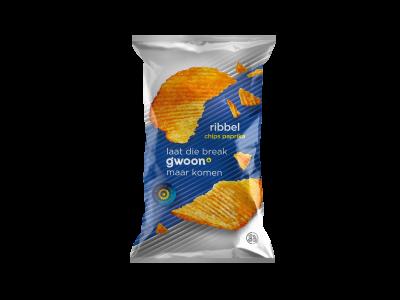 g'woon ribbelchips paprika 215 gram