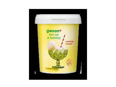 g'woon sorbetijs citroen 65ml