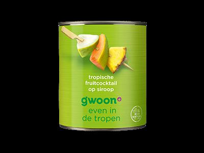 g'woon tropische fruitcocktail 825g